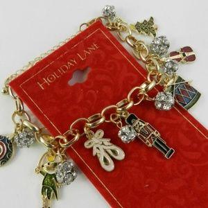 Charter Club Enameled Nutcracker Charm Bracelet